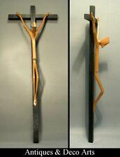 Vintage Carved Wood Crucifix signed Kystic