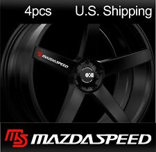 4 MAZDASPEED Stickers Decals MAZDA Sport Door handle Wheels Rims Mirror WHITE