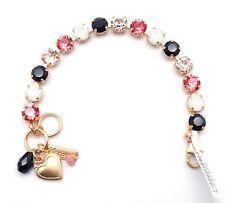 MARIANA Swarovski Crystal Gold Bracelet Padparadscha & Jet Mix 1045 Pomegranate