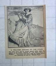 1917 Miss Ellen Terry Rehearsing Part As Mistress Page London Coliseum