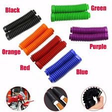 A pair Universal Motorcycle Front Fork Shock Boots Dust Cover Protector Rubber