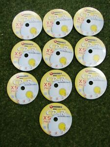 50 CD-R Recordable Discs 700MB 80 min (10 packs x 5 discs) - Connect-IT (New)