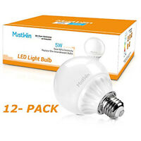 5W (50W Replacement) Energy Efficient LED Replacement Light Bulbs 12-ct