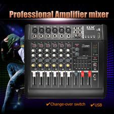 300W 48V USB 6CH Professional Live Studio Audio Mixer KTV Party Mixing Console