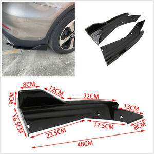 2x Spoiler Splitter Diffuser Winglet Wing Fit For Car Rear Lip Bumper Side Skirt