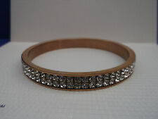 Genuine SWAROVSKI Crystal Rose-Gold-Plated Bangle Bracelet - M