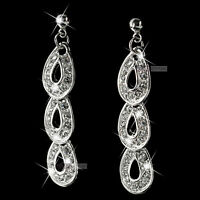18k white gold gp made with SWAROVSKI crystal stud earrings dangle