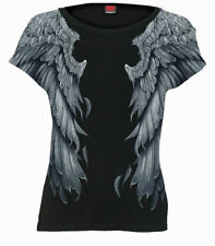 Spiral Direct SERAPHIM Allover Women's Cap Sleeve Top/Goth/Rock/Wings/Gift/Tee