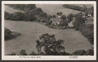 Postcard Speen near High Wycombe Buckinghamshire aerial view The Plow Inn pub RP