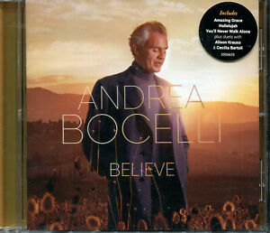 Andrea Bocelli Believe CD NEW 1-disc Amazing Grace Hallelujah