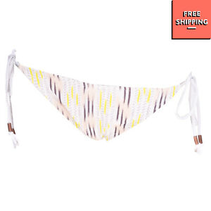 RRP€125 EBERJEY Sides Tie Bikini Bottom Size L Patterned Ruched Back Made in USA