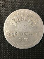 Token Lowe's Dairy Ft Frances Ont 1.00 Quart Of Milk Round Token B04