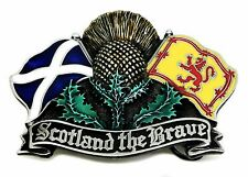 Scottish Patriot Belt Buckle Scotland The Brave Thistle & Flag Authentic Product