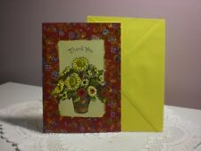 Carol's Rose Garden - Thank you card - A vase of Daisies on the cover