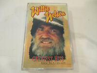 Vintage Willie Nelson 'Greatest Hits Live In Concert' Cassette Tape 1996 X Cond