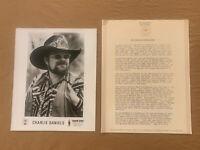 Charlie Daniels 1978 ORIGINAL Epic Records 7 Page Biography & 8x10 Press Photo