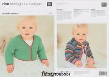 RICO 090 BABY CLASSIC DK CARDIGANS ORIGINAL KNITTING PATTERN 0-5 YRS