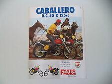 advertising Pubblicità 1975 MOTO FANTIC CABALLERO RC 50/125