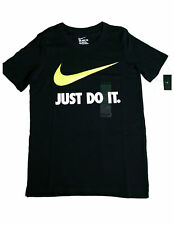 New Nike Just Do It Youth Boy's Size Xs Athletic Cotton T-Shirt 709952 010 Black