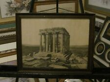Vintage Rome Building Etching