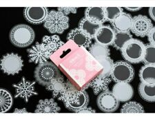 Diary Scrapbook Lace Shapes Pattern Stickers box 50pcs St314
