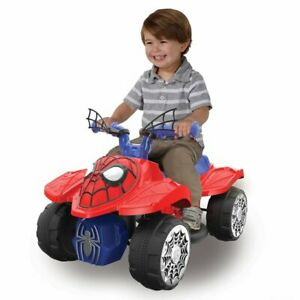 NEW Spider-Man 6V Volt Quad Powered Ride-On Toddler Kids Boys Vehicle Truck