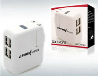 GO 4 PORT  4 Multi-Port USB Wall Charger 12W Power Adapter
