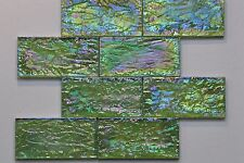 """Glass Mosaic Tile - SPECIAL PRICE $0.99/piece Green 3""""x6"""""""