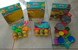 Play-Doh Dino Tools Dinosaurs, Wavy the Whale & Burger Barbecue Party set bundle