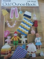 VINTAGE 1960S HAYFIELD KNITTING CROCHET PATTERN BOOKLET ODD OUNCE BOOK GIFT TOYS