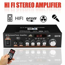 Home Amplification Audio Home Theater Amplifiers Mini Bluetooth Stereo Power Amp