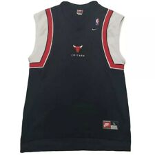 Vintage 1998 Chicago Bulls Nike Warmup Shooting Jersey Shirt Michael Jordan Sz L
