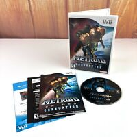 Metroid Prime 3: Corruption (Nintendo Wii, 2007) Complete CIB FS Tested
