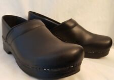 DANSKO Clogs Sz 43 Black leather shoes Womens 12.5-13 | Mens 9.5-10
