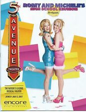 ROMY AND MICHELE'S HIGH SCHOOL REUNION Playbill World Premiere Seattle 5th Ave