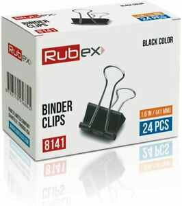 Rubex Binder Clips, Extra Large Binder Clips, Jumbo Binder Clips 2 Inch 24 Count