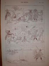 Una ligera van a pique Rene Bull dibujos animados de impresión de 1893