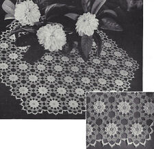 Vintage Crochet PATTERN to make Irish Rose Motif Doily Centerpiece Flower Mat