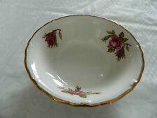 MIDWINTER ENGLAND STAFFORDSHIRE ROSES GOLD TRIM FRUIT ICE CREAM BOWL  EX. COND.