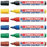 Edding Textil T-Shirt Stoff Stift Marker Stift - 2 - 3mm Line - Packung 6