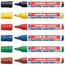 Edding Textile T-Shirt Fabric Pen Marker Pen - 2 - 3mm Line - Pack of 6
