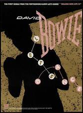"""1983 David Bowie """"Lets Dance"""" Album Promo Ad"""