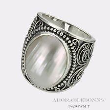 Authentic Lori Bonn Silver Creme De La Creme Large Oval Ring Size 8  38204WM