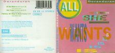 Duran DURAN CD-Single All She Wants (3 inch) SKIN TRADE (Parisian Mix) 8:10