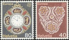 Switzerland 1976 Europa/Handicrafts/Clock/Watch/Embroidery/Sewing 2v set  n45941