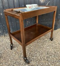 Large Vintage 1950's Utility Two Tier Tea Trolley / Drinks Trolley