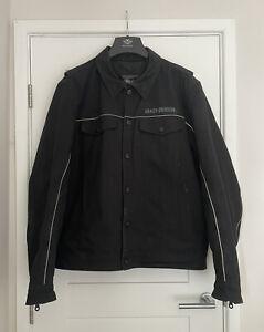 Harley-Davidson Men's Black Canvas Waterproof Jacket Size XL