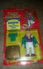Police Academy Kingpin Action Figure with Thief-Trap Safe 1989 Kenner NEW