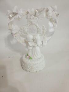 Precious Moments Forever True Porcelain Musical Wedding Cake Topper