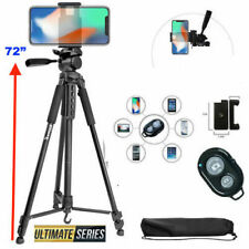 "72"" TRIPOD + MOUNT + REMOTE for IPHONE 7 8 X 10 XS 11 SAMSUNG NOTE GALAXY DSLR"
